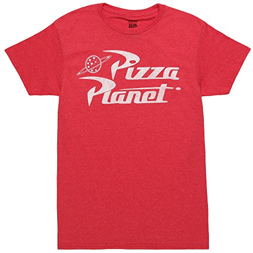 Toy Story Pizza Planet Delivery Adult T-shirt - Red (Large)