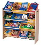 Sweet-dream Toy Organizer, Primary Colors,children's Toy Chests Storage