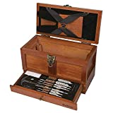 Outers 70084 25 - Piece Universal Wood Gun Cleaning Tool Chest (.22 Caliber and up) (1 Unit)