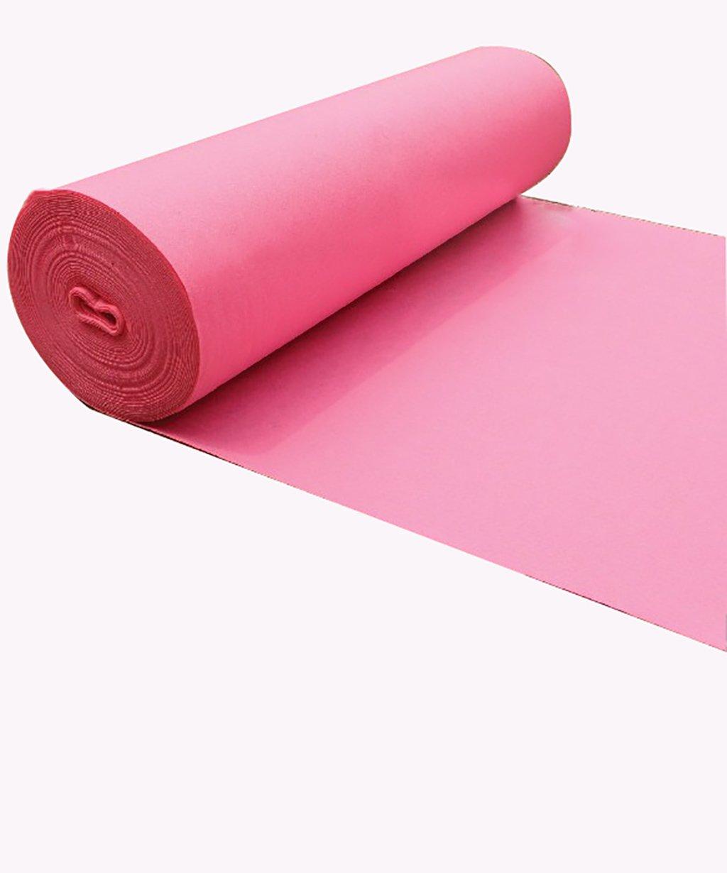 Jia He ウェディングランナー ウェディングカーペット使い捨て敷物、ブラシ付き不織布、ピンク、厚さ2mmオプションの9枚 @@ (サイズ さいず : 1.5m*30m*2mm) B07QHW4BKS  1.5m*30m*2mm