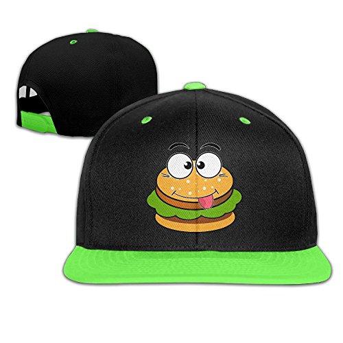 WYUZHEN Kid's Cartoon Hamburger Smiley Face Hip-hop Snapback Hat Caps (Funniest Kid Costumes)