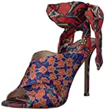 Jessica Simpson Women's JESTELLA Heeled Sandal, Multi (Purple Orange 960), 9 M US