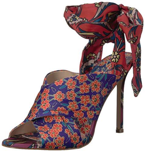 Jessica Simpson Women's JESTELLA Heeled Sandal, Multi (Purple Orange 960), 7.5 M US ()