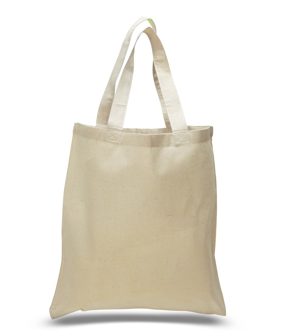 Natural Color Reusable Cotton Shopping Tote Bag (100, Natural) by ToteBagFactory (Image #1)