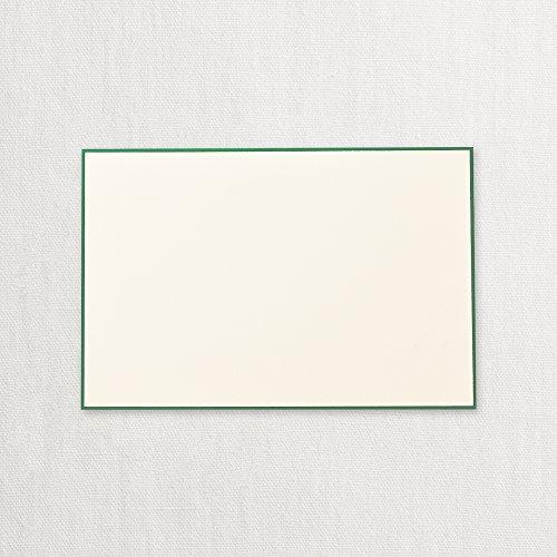 Crane Hunter Green Bordered Correspondence Card, Ecru (CC3719)