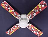 Ceiling Fan Designers Ceiling Fan, Disney Mickey Mouse #1, 42''