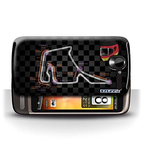 Etui / Coque pour HTC Desire G7 / Allemagne/Hockenheim conception / Collection de 2014 F1 Piste