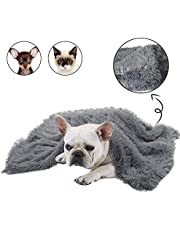 BLEVET Super Soft Warm Fluffy Pet Blankets for Small Medium Large Dogs and Cats AU-XH025 (S:56 * 36CM, Dark Grey)