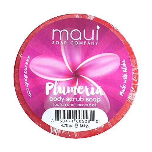 Maui Soap Co. Hawaiian Body Scrub Soap with Loofah and Coconut Oil (Soap And Loofah)