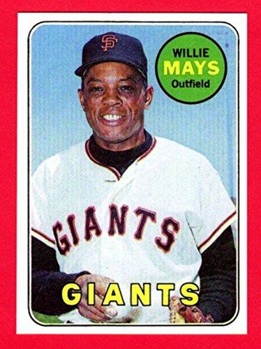 Willie Mays 1969 Topps Baseball Reprint Card - Cards 2008 Basketball 2007 Trading