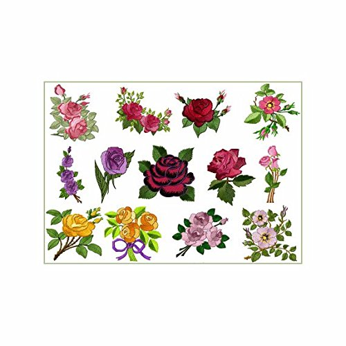 ABC Machine Embroidery Designs Set on the CD Roses Heaven - 13 Designs, 4