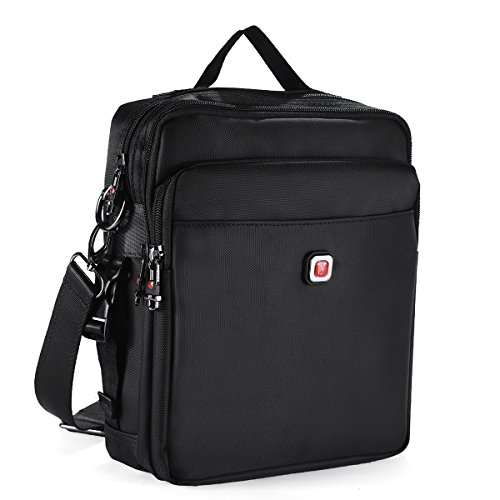 Soperwillton Vintage Multifunction Shoulder Bag Business Messenger Bag Ipad Bag Work Field Bag (Shoulder Bag Down)