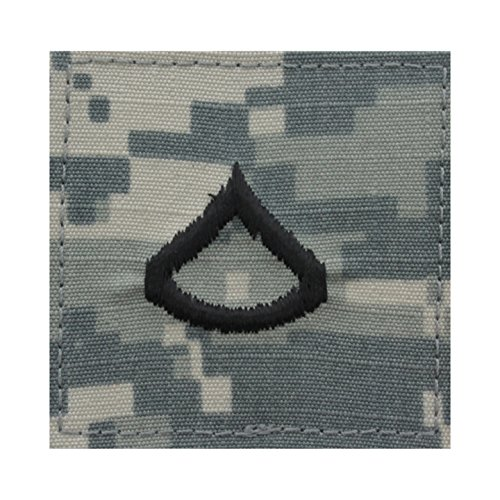 Authentic Military Rank Insignia US Made (Private 1st Class - ACU)