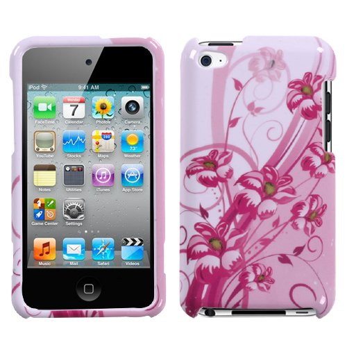 Blooming Lily Phone Protector Faceplate Cover For APPLE iPod touch(4th generation)