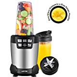 : Aicok Smoothie Blender, Professional Blender 1200 Watt, Personal Blender, 24,000RPM High Speed Blender for Shakes and Smoothies, LED Smart One Touch and Large Tritan Travel Cups(1*35 oz and 1*28 oz)
