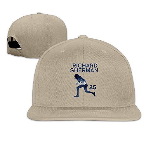 [ElishaJ Snapback Seattle #25 Football Player Trucker Caps Natural] (Flash Drive Costume)
