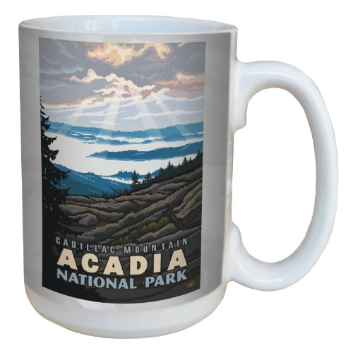 (Tree-Free Greetings lm43259 Scenic Acadia National Park Cadillac Mountain by Paul A. Lanquist Ceramic Mug, 15-Ounce, Multicolored)