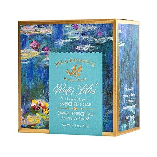 Pre De Provence Shea Butter Enriched Soap Bar in Beautiful Gift Box (150 Gram) - Water Lilies Soap (Soaps Gift Box Shea Butter)