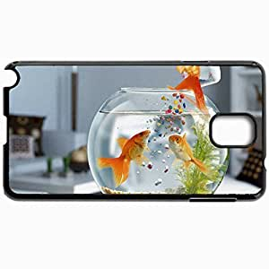 Customized Cellphone Case Back Cover For Samsung Galaxy Note 3, Protective Hardshell Case Personalized Fish Black