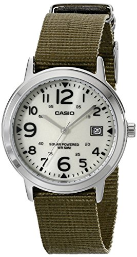 Casio Unisex MTP-S100-9BVCF Solar Easy-To-Read Green Watch