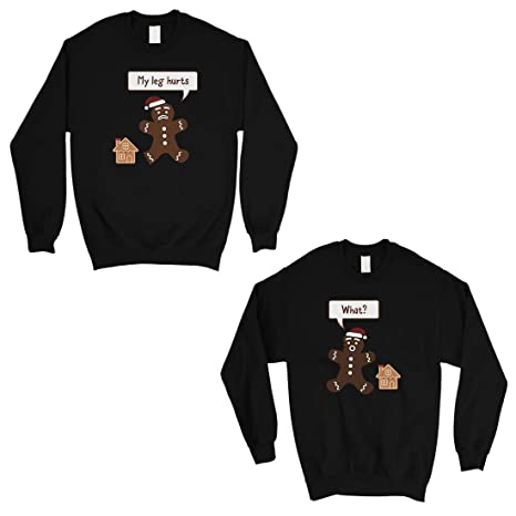 53c8232f24 365 Printing Christmas Gingerbread Couple Sweatshirts Holiday Matching Tops