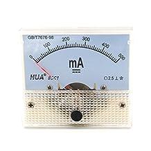 Baomain Analog Ammeter DC 0-500mA Micro Amp Gauge Current Measurement Panel Meter