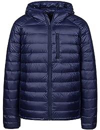 Men's Packable Insulated Light Weight Hooded Puffer Down Jacket