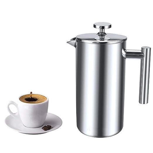 Cafetera francesa de acero inoxidable con doble pared aislada para ...