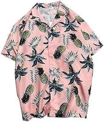 DXHNIIS Camisa Hawaiana para Hombre de Playa Camisa de Manga ...