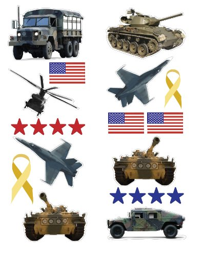 - Fun Time 96678 Military Wall Stickers
