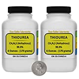 Thiourea [SC(NH2)2] 99.9% ACS Grade Crystals 12 Oz in Two Space-Saver Bottles USA