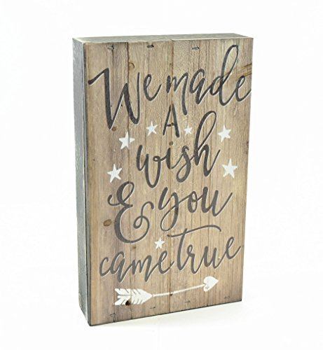 MRC Wood Products We Made a Wish and You Came True Pallet Box Sign 6x10