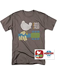 Woodstock Peace and Music T Shirt & Exclusive Stickers