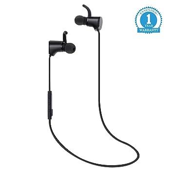 Eonfine 4.1 Auriculares Inalámbricos Bluetooth, Estéreo Magnéticos a Prueba de Agua Con Micrófono (Ligero