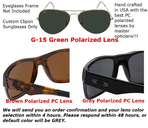 4f3961b5d4 Amazon.com  OAKLEY SERVO-OX1066-53X18 POLARIZED CLIP-ON SUNGLASSES (Frame  NOT Included)  Health   Personal Care