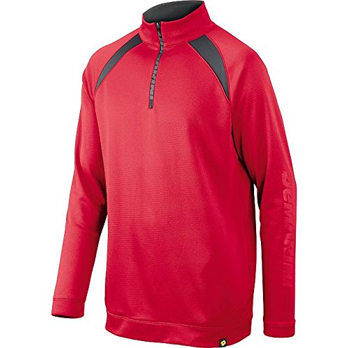 DeMarini Youth 1/2 Zip Heater Fleece Jacket, Scarlet, Small