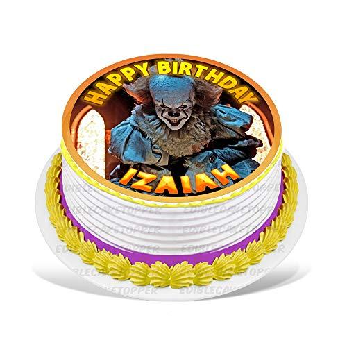 It Movie, Creepy Clown Edible Cake Topper Personalized Birthday 8