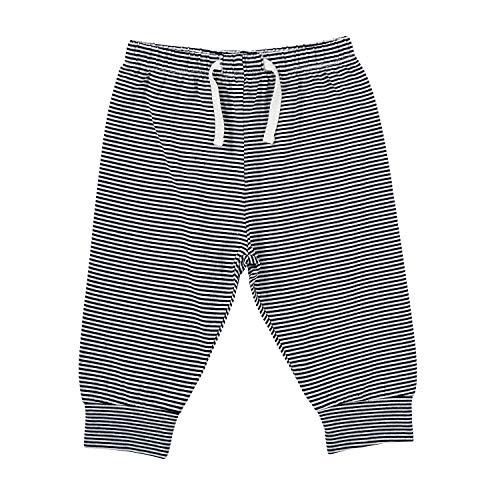 Stephan Baby Sweat Pants-Style Diaper Cover, Navy and White Stripes, 6-12 Months