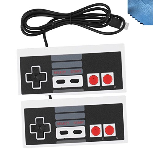 2 Packs Classic Nintendo USB NES Controller USB Famicom Controller Joypad Gamepad,EEEKit Computer Games Solution Kit for Windows PC / MAC / Raspberry Pi (Control Ps3 Original compare prices)