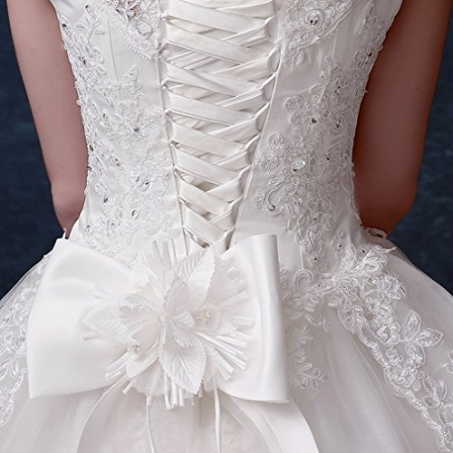 3xl Del Fasciatura Di Dididd Delle Nozze Da Sposa un Della Spalle Sposa Bianco Pizzo Vestito Bg6xHAwgq