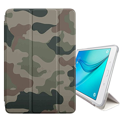 (STPlus Army Camo Camouflage Pattern (Jungle Green #6) Cover Case + Sleep/Wake Function + Stand for Samsung Galaxy Tab E Lite 7