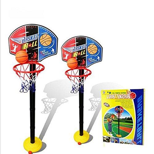 Set de Jouets de Basket-ball Portable Panier de Basket avec Support Ballon