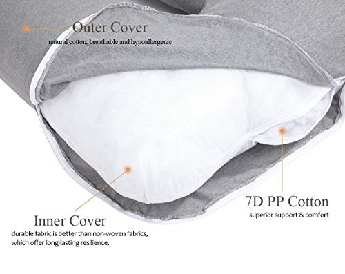 AngQi 55 inch extensive Pregnancy Pillow Kitchen dining Features