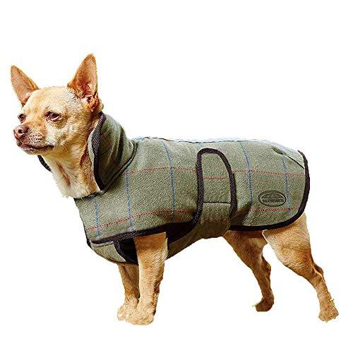 Weatherbeeta Tweed Dog Coat Olive 16