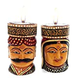 The Indian Arts ThanksGiving and Christmas Gift Wooden Figurine Tea Light