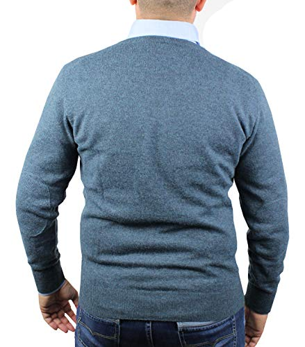 1st Lambswool American Tricot V Les Patchs Pull Pullover Cou D'hiver Coudes Manches Sur Avio Longues Homme 58Awxgw1
