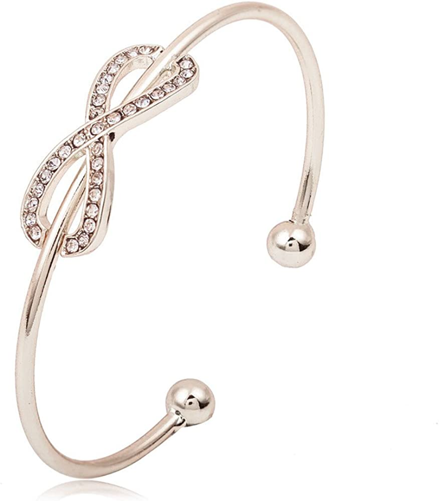 Fashion Cute 8 Word Infinity Charm Chain Bridesmaid Gift Bridesmaid Bracelet MW