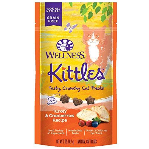 (Wellness Natural Pet Food 90056 Turkey And Cranberries Kittles Grain-Free Cat Treat, 2 Oz)