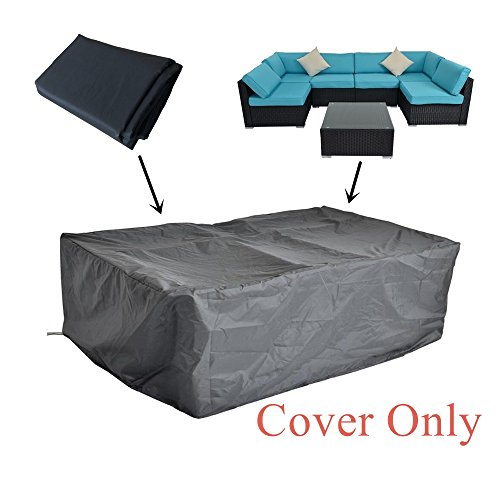 JETIME 7Pcs Outdoor Rain Cover Patio Furniture Cover Suitable for All Weather by JETIME