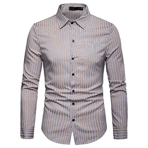 - TOOPOOT 2019 Men's Shirt,Long Sleeve Casual Slim Fit Vertical Stripe Button Down Dress Shirt